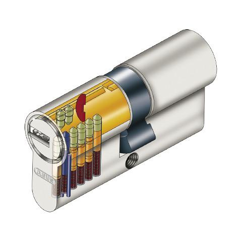 Cylindre Abus ECS à bouton nickelé