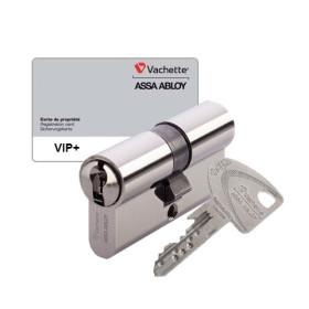 Cylindre double entrée Vachette VIP+ A2P nickelé