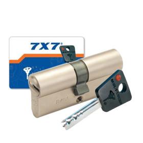 Cylindre double entrée 7X7 Mul-T-Lock nickelé