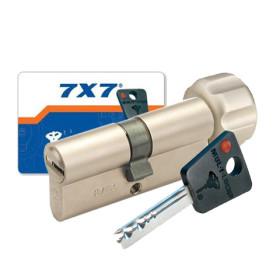 Cylindre à bouton 7X7 Mul-T-Lock nickelé