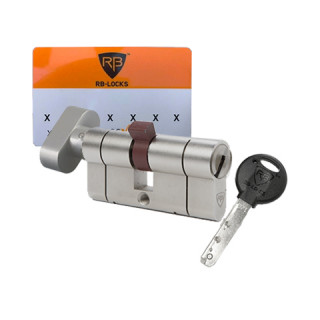 Cylindre RB-Locks Keylocx à bouton nickelé