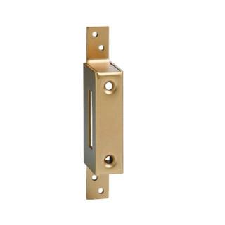 Gâche haute à pattes bronze pour porte à recouvrement de 12 à 20 mm