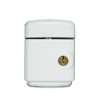 Verrou automatique pour baie coulissante à pêne acier, blanc